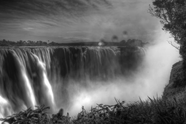 Victoria Falls Black & White HDR